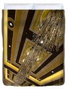 Golden Jewels And Gems - Sparkling Crystal Chandeliers  Duvet Cover