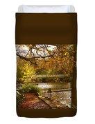 Golden Lake At Botanical Gardens Duvet Cover