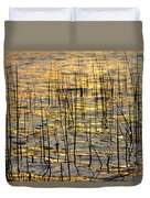 Golden Lake Ripples Duvet Cover by James BO  Insogna