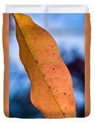 Golden Lanceolate Leaf Duvet Cover