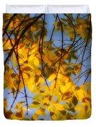 Golden Leaf Cascade Duvet Cover