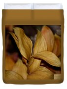 Golden Leafed Abstract 2013 Duvet Cover