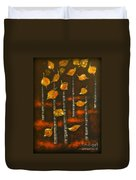 Golden Leaves 1 Duvet Cover by Elena  Constantinescu