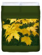 Golden Leaves Floating Duvet Cover