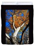 Golden Leaves II Duvet Cover