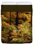 Golden Leaves In Autumn Duvet Cover