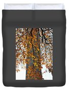 Golden Leaves In Mt Vernon Duvet Cover