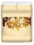 Golden Leaves Duvet Cover