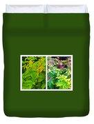 Golden Leaves To Purple Seeds Duvet Cover