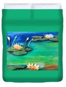 Golden Lillies Duvet Cover