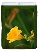 Golden Lilly Duvet Cover