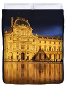 Golden Louvre - Paris Duvet Cover