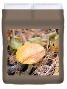Golden Mushroom Duvet Cover