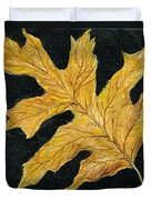 Golden Oak Leaf Duvet Cover