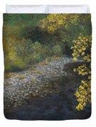 Golden Overhang Duvet Cover