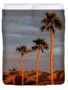 Golden Palm Trees Duvet Cover