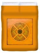 Golden Pattern 1 Duvet Cover