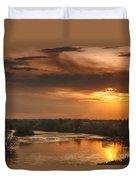 Golden Payette River Duvet Cover