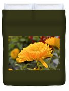 Golden Petals Duvet Cover