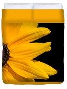 Golden Petals Duvet Cover