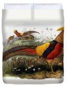 Golden Pheasants Duvet Cover