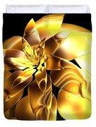 Golden Pineapple By Jammer Duvet Cover