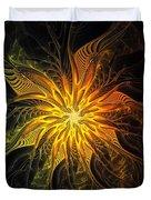 Golden Poinsettia Duvet Cover