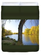 Golden Pond Panorama Duvet Cover