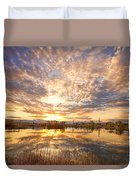 Golden Ponds Scenic Sunset Reflections 2 Duvet Cover