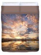 Golden Ponds Scenic Sunset Reflections 3 Duvet Cover