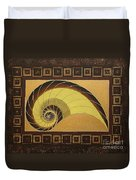 Golden Ratio Spiral Duvet Cover