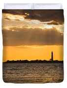 Golden Rays At Cape May Duvet Cover