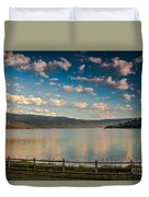 Golden Reflection On Lake Cascade Duvet Cover by Robert Bales