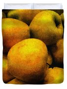 Golden Renaissance Apples Duvet Cover