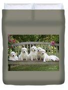 Golden Retriever Puppies Duvet Cover