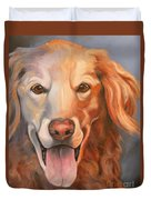 Golden Retriever Till There Was You Duvet Cover