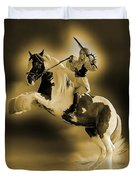 Golden Rider Duvet Cover