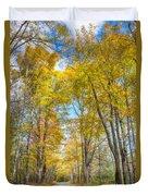 Golden Road Duvet Cover