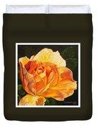 Golden Rose Blossom Duvet Cover