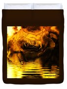 Golden Rose On The Lake Duvet Cover