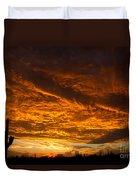 Golden Saguaro Duvet Cover