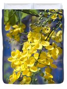 Golden Shower Tree - Cassia Fistula - Kula Maui Hawaii Duvet Cover