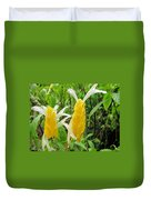 Golden Shrimp Plant Or Lollipop Plant Duvet Cover