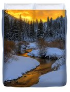 Golden Silence Duvet Cover