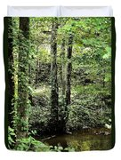 Golden Silence In The Forest Duvet Cover