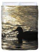 Golden Silhouette  Duvet Cover