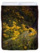 Golden Spring Flowers  Duvet Cover