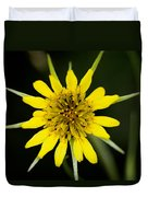 Golden Star Flower Yellow Salsify Glacier National Park Duvet Cover