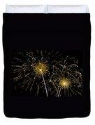 Golden Starburst Duvet Cover