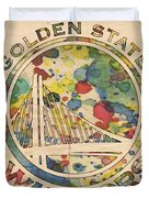 Golden State Warriors Logo Art Duvet Cover